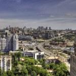 Panorama aerial view of Kyiv — Stock Photo #67791509