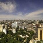 Panorama aerial view of Kyiv — Stock Photo #67791545