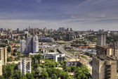 Panorama aerial view of Kyiv — Stock Photo