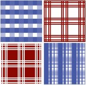 Set of stripes and squared pattern background — Stockvector