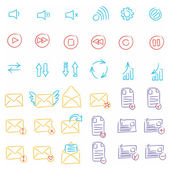Drawing icon set — Stock Vector