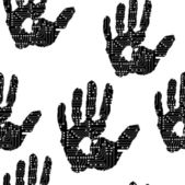 Hand print pattern — Stock Vector
