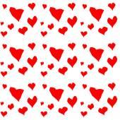Fundo de corações vermelho facetado — Vetor de Stock