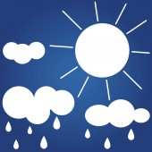 Blue Weather icon. — Stock Vector