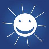 Weather icon. sun. — Stock Vector
