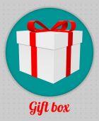 Gift box icon — Stock Photo