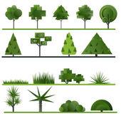 组的抽象树木 — 图库矢量图片