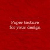 Sorunsuz doku kağıt buruşuk. Yinelenen desen. Kırmızı renk. — Stok Vektör