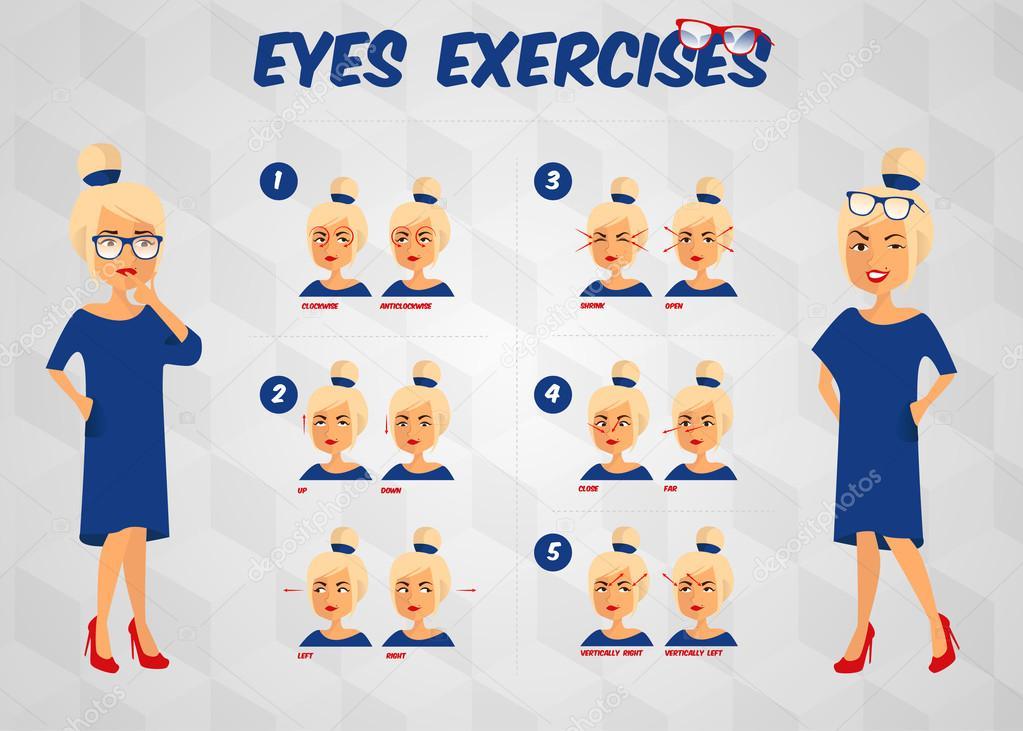 Зарядка инструкция глаз для