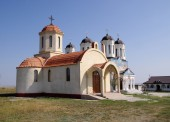 Orthodox Monastery Codru with two churches,  near Tulcea , Roman — Stock Photo