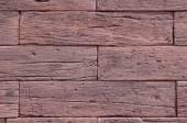 Slabs imitation red wood on wall closeup — Foto de Stock