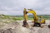 砂の採石場の掘削機 — ストック写真