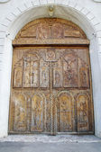Wooden door on Cocos Monastery,  Dobrogea , Romania — Stock Photo