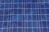 Solar panel closeup  in sunny day — Stock Photo