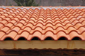Roof with ceramic tiles — Стоковое фото