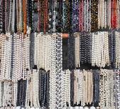 Necklaces of pearls and semiprecious stones — Foto de Stock