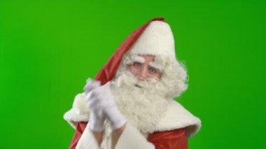 Celebrating Santa Claus — Stock Video