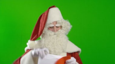Santa Claus Agrees to the Wish — Stock Video