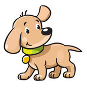 Funny puppy — Stock Vector