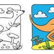 Постер, плакат: Little kangaroo coloring book