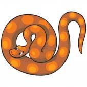 дети векторная иллюстрация змея. — Cтоковый вектор