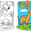 Постер, плакат: Coloring book of giraffe Alphabet G
