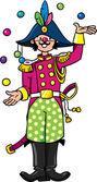 Funy general-juggler — Stock Vector