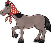 Funny horse — Stock Vector