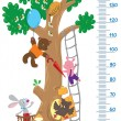 Постер, плакат: Meter wall with big tree and funny animals