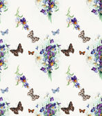 Seamless pattern of violets. Bouquet of  violets. — Stock Photo