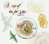 время чаепития. чашка чая. — Стоковое фото