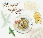 Tea Time. Cup of tea. — Stockfoto
