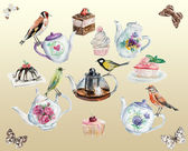Tea time background. Invitation to tea drinking. — Stock Photo
