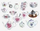 Collection porcelian. Tea Time Set. — Stock Photo