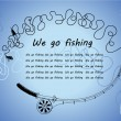 Постер, плакат: Frame from spinning We go fishing Knots and hooks for fishing Fishing hook collection