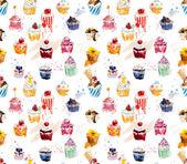Seamless cupcakes. — Stock Photo
