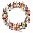 Circle frame from different bottles. — Stockfoto #76218531
