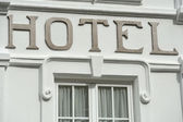 Signboard of hotel — Foto Stock