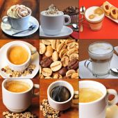 Cofee and grains — Stockfoto