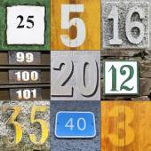 Textures with numbers — Stockfoto