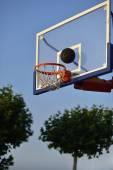 Basketball hoop park — Stock Photo