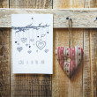 Paper sketch drawing with hearts — Stock Photo #62628265
