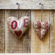 Two hearts hanging — Stock Photo #62631761