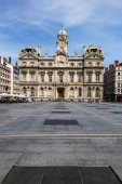 The Terreaux square in Lyon city — Stock Photo