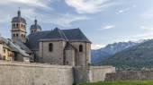 Church Notre Dame and Saint Nicolas in Briancon — Stock Photo