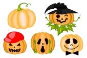 Halloween pumpkins — Stock Vector