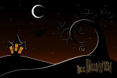 Thi is halloween wallpaper achtergrond — Stockvector