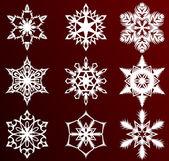 Christmas snowflakes — Stock Vector