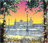 Mosaic city of Seville — Stock Photo