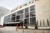 Palace of congresses and exhibitions madrid — Stock Photo